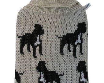 Staffie, Staffordshire Bull Terrier, Merino Wool, Hot Water Bottle Cover