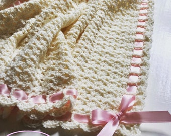 Crochet Pattern Baby Blanket Pemberley Heirloom PDF 253