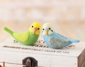 Hamanaka Needle Wool Felt Kit Sekisei parakeet kawaii from Japan