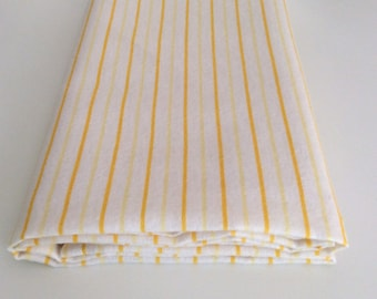 Yellow & White Candy Stripe Pattern, Soft Baby Wrap, Blanket, Swaddle 100 cm x 120 cm, 100% Cotton