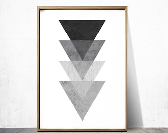 Black and white Prints Geometric Wall Art Geometric Prints