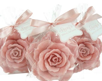 25 Rose Soap Favors -  - Rose Soaps for Weddings and Showers