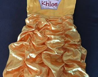 Princess Personalized Yellow Gown Dress up Dress, Princess Dress, Personalized Princess Dress
