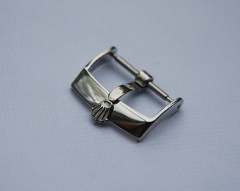 Rolex Buckle  18mm  Silver Stainless Steel Buckle For Rolex Watch Strap Band Replacement Tang