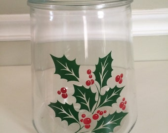Bartlett Collins Holly Cookie Jar  1960's