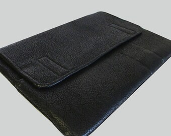 MacBook Air Sleeve, MacBook Air Case, MacBook Air 11 Inch Sleeve, MacBook Air 11 Case, MacBook Air Cover Faux Black Leather