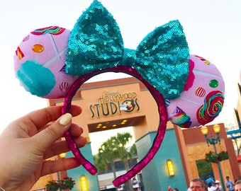 Wreck It Ralph Vanellope Von Schweetz Disney Inspired Ears, Minnie Ears, Mickey Ears