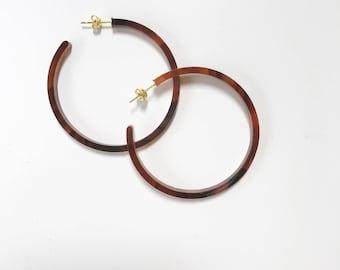 Kipling Hoops - Tortoise Hoops - Hoop Earrings - Tortoise Earrings - Margie and Dot Kipling Hoops