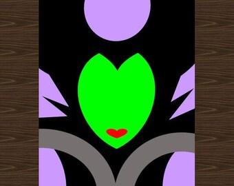 Maleficent Disney Print, 8.5x11, Disney Villain Print