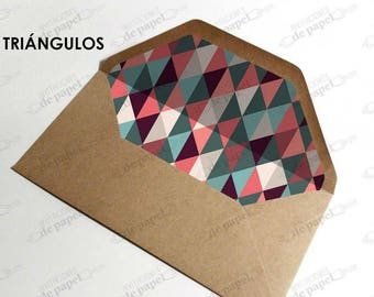 Lined envelopes for elongated wedding invitations