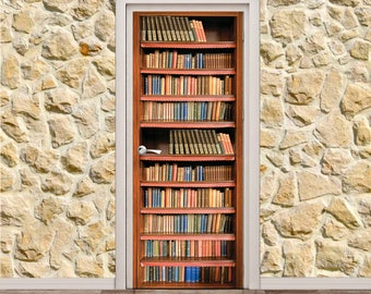 "Bookcase Door Poster/Sticker (31"" x 79"" 