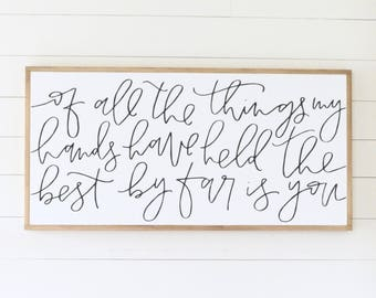 THE BEST BY Far Is You - Painted wood sign - S,M,L Sizes available  | Wall decor (Nursery Decor, Calligraphy, Fixer Upper)