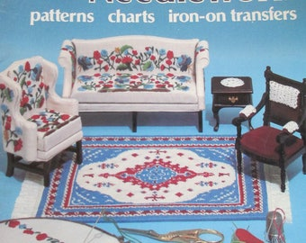 """DIY Vintage """" Miniature Iron-on Transfer Patterns""""  by Rita Weiss 19 pages used  1982"""