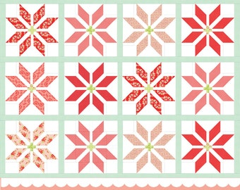 Poinsettia Patch Quilt Pattern