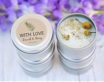 Wedding Candle Favours, With Love, Hens Party, Candle Bomboniere, Favours, Team Bride, Baby Shower, Thank you wedding gifts