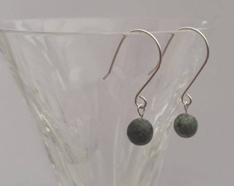 Sterling silver and African Turquoise earrings