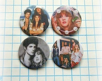 Fleetwood Mac - pinback button or magnet 1.5 Inch