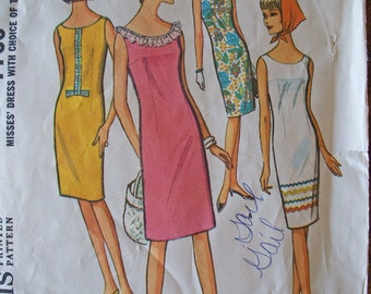 Vintage McCalls Misses pattern size 10-12 Sleeveless Dress 1950s