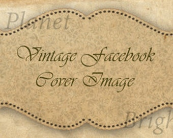 Vintage Rose Design Facebook Timeline Cover Image