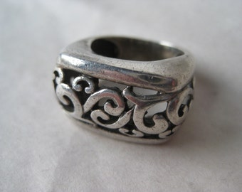 Filigree Sterling Ring Size 5 1/4 Silver Vintage 925