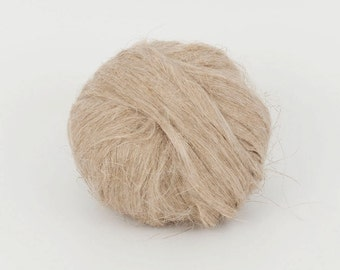Linen Flax Fiber, 1.78oz (50gr)  Combed Tops For Felting, spinning.