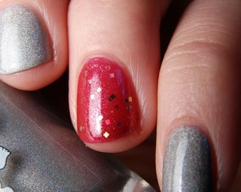 The Philosopher's Stone - Custom Harry Potter Inspired Red Nail Polish