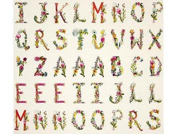 Joyeux Alphabet Panel Joie De Vivre by Bari J Art Gallery Fabric, Choose your cut