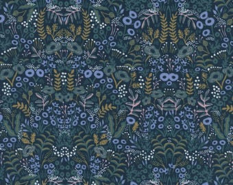 Cotton + Steel - Rifle Paper Co. - Menagerie - Tapestry in Navy
