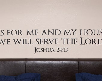Bibelspruch Josua 24 - Wall Decal