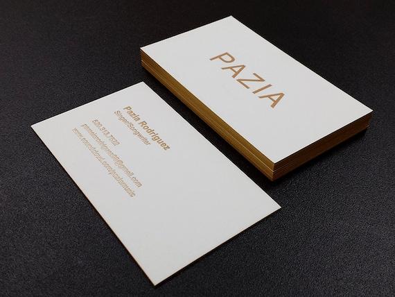 Letterpress business cards 2 foil colour edge printing reheart Images