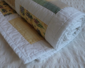 100% Cotton Botanical Patch Quilt