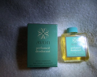Vintage Avon Perfumed Deodorant Liquid New in Box Rare