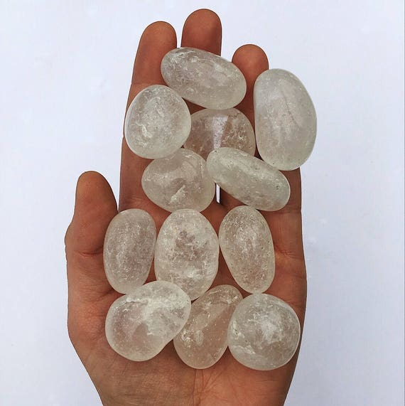 Clear Quartz tumble stone