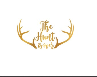 the hunt is over gold foil wedding engagement clip art svg dxf file silhouette cameo cricut downloads digital scrapbooking commercial