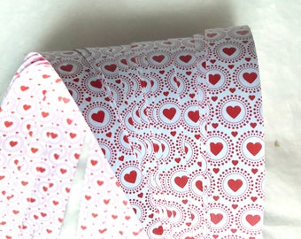 Dotted Hearts~ Moravian German Froebel Star Paper (52 strips)