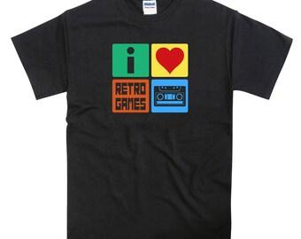 I Love Retro Games Cassette Tape Spectrum C64 shirt