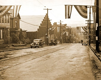 "1935 Connellsville, Fayette County, Pennsylvania Vintage Photograph 8.5"" x 11"" Reprint"
