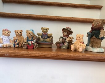 Beautiful Assortment Of Resin Collectable BEARS* Family Of Eight (8)* Is Enough*
