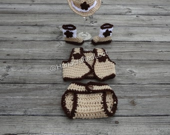Baby Cowboy Vest, Newborn Cowboy Outfit with Vest, Newborn Cowboy Vest Outfit, Baby Cowboy Costume, Cowboy Photo Prop Outfit, Baby Cowboy