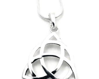 Celtic Knot Pendant Necklace on Silver Chain. Irish Knot Necklace,  Choose Your Chain Length, 18 inch, 24 inch, 28 inch
