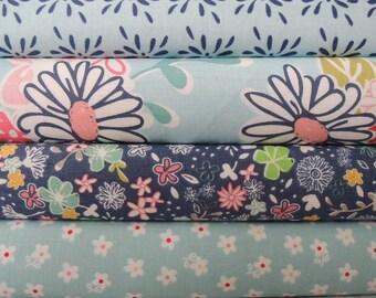 Daisy Days Fabric Bundle, Designer Fabric by Riley Blake, Fabric Bundle, 4 Yard Total