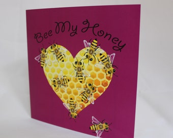"Greetings Card ""Bee My Honey"""