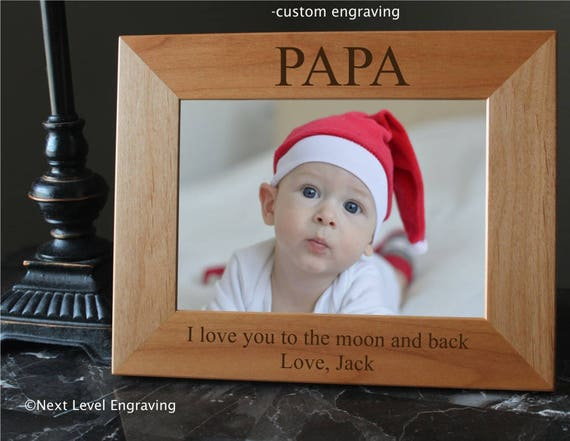 Papa Gift for Fathers Day Gift for Papa Photo Frame Grandfather Gift ...