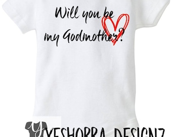 Will You Be My Godmother Gift, Godmother Proposal, God Parent Gift, New Baby, Godmother Christmas Gift