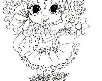 INSTANT DOWMLOAD Digital Digi Stamps Big Eye Big Head Dolls Digi  Pheebee Flutterbee Besties By Sherri Baldy