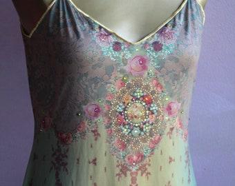 Exquisite Collectable Michal Negrin Baroque Slip Summer Dress