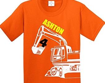 Construction Birthday Shirt, Construction Party, Excavator