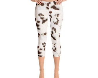 Liver Dalmation Capri Leggings