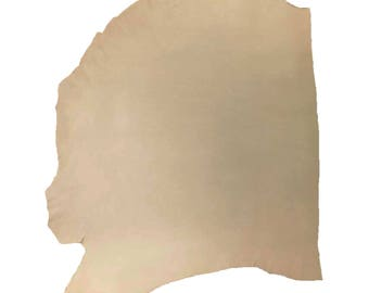 Genuine Vegetable Tan Cowhide Shoulder Natural 7-8oz Average 7-8 sqft