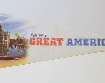 Marriott's Great America - Vintage Pennant